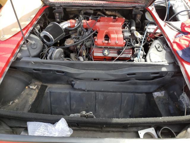 1986 Pontiac Fiero Se Red  - engine