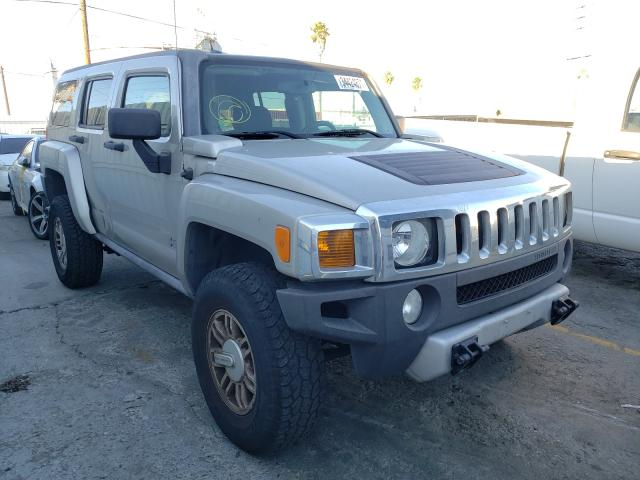 2008 HUMMER H3 Beige  - front right view