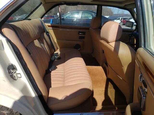 1987 Jaguar Xj6 White  - back view