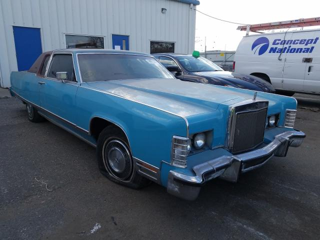 1977 Lincoln Continital Teal  - front right view