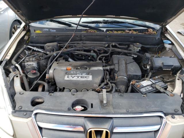 2006 Honda Cr-v Se Beige  - engine