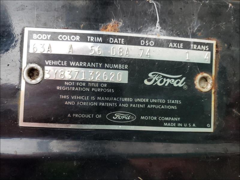 1963 Ford Thunderbir Black