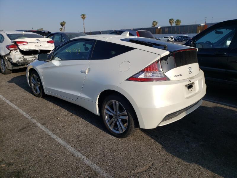 2013 Honda Cr-z Ex White  - rear left view