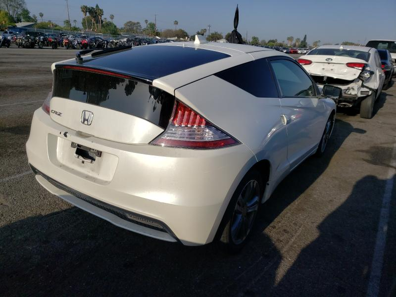 2013 Honda Cr-z Ex White  - rear right view