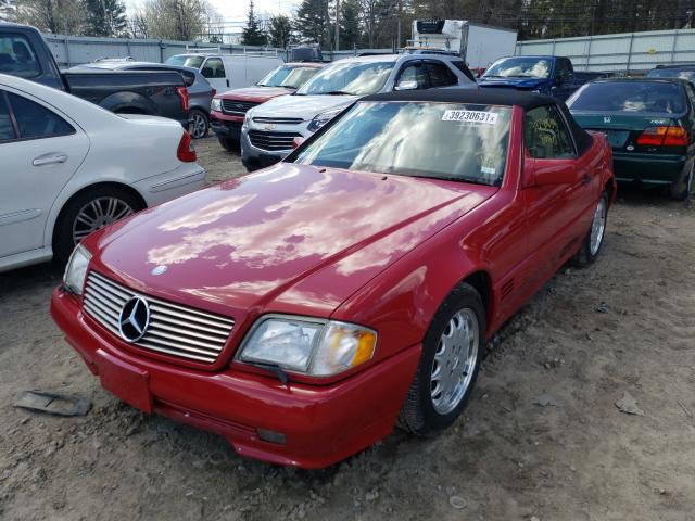 1995 Mercedes Benz Sl 500 Red  - front left view