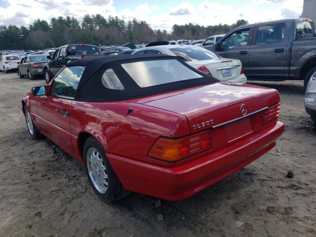 1995 Mercedes Benz Sl 500 Red  - rear left view