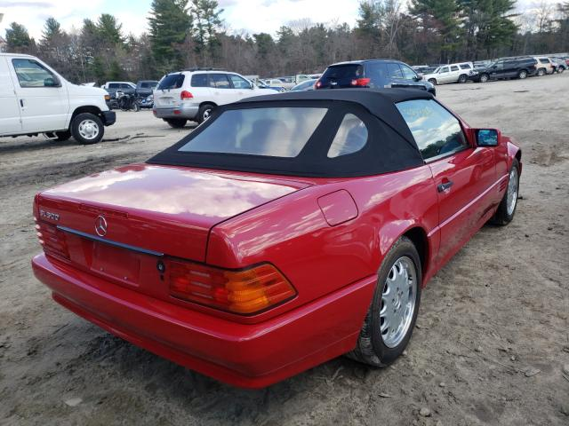 1995 Mercedes Benz Sl 500 Red  - rear right view