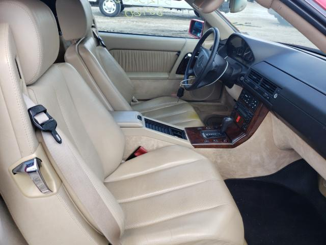 1995 Mercedes Benz Sl 500 Red  - interior - front