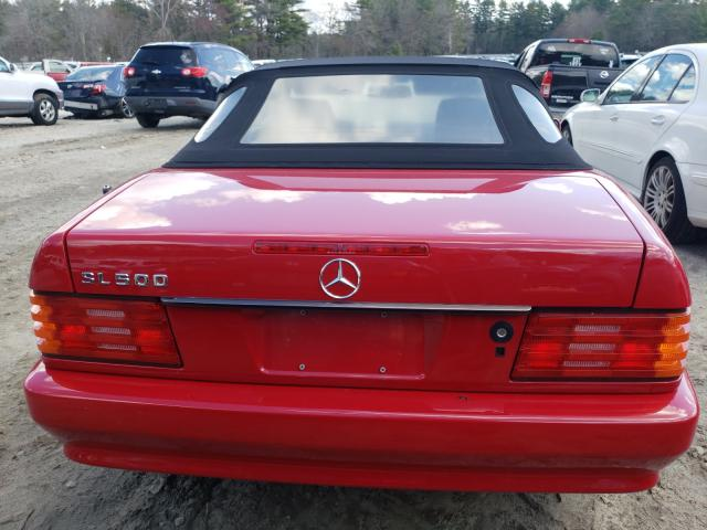 1995 Mercedes Benz Sl 500 Red  - back view