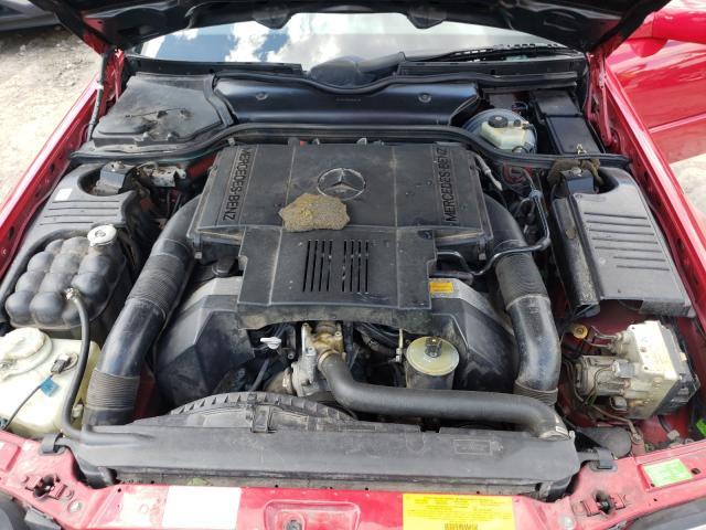 1995 Mercedes Benz Sl 500 Red  - engine