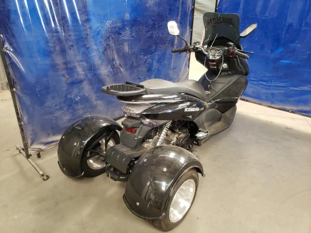 2015 Zhen Scooter Black  - rear right view