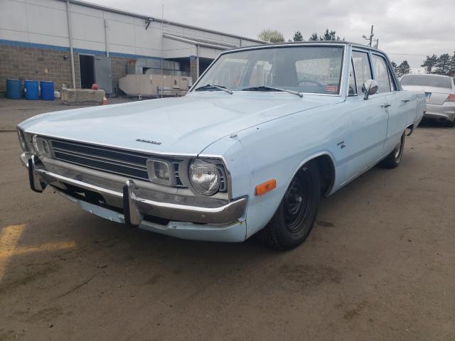 1972 Dodge Dart Blue  - front left view