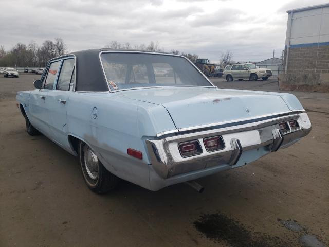 1972 Dodge Dart Blue  - rear left view
