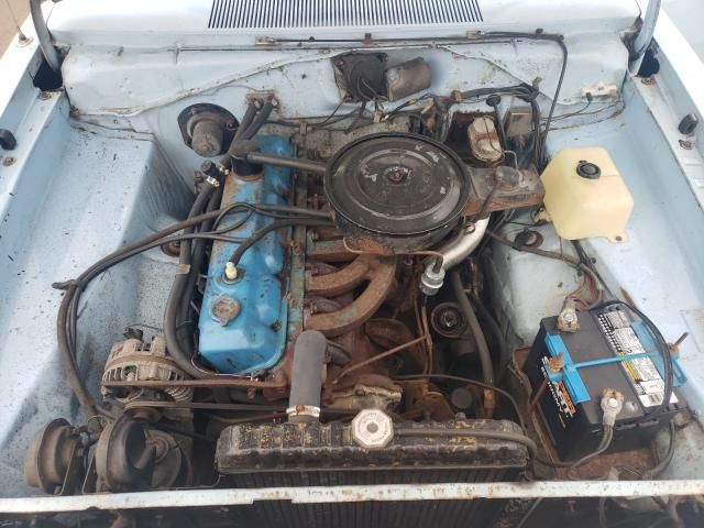 1972 Dodge Dart Blue  - engine