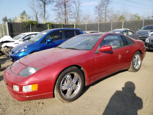 1990 Niss 300zx Mroon  - front left view