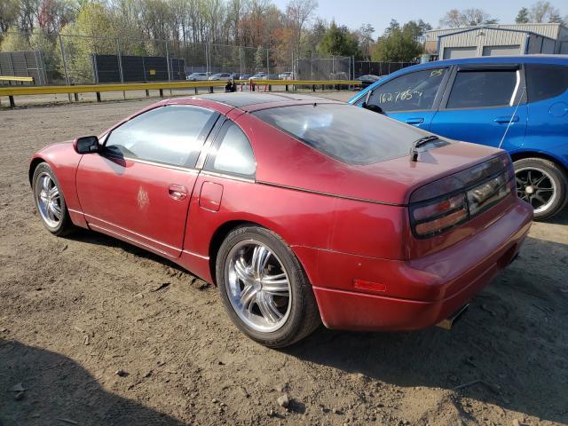 1990 Niss 300zx Mroon  - rear left view