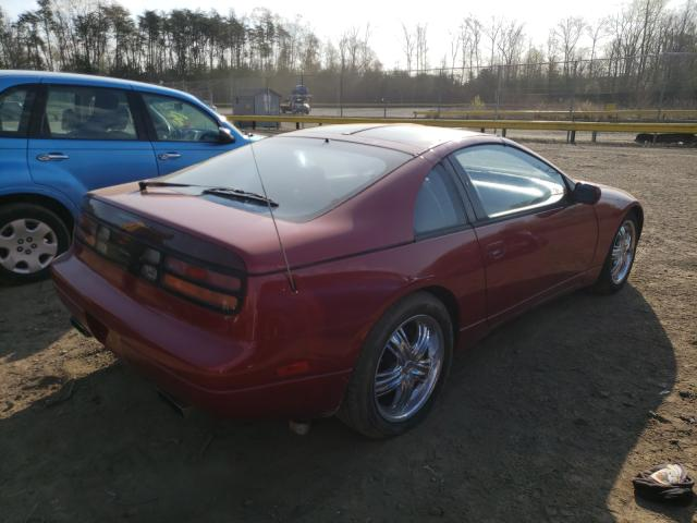 1990 Niss 300zx Mroon  - rear right view