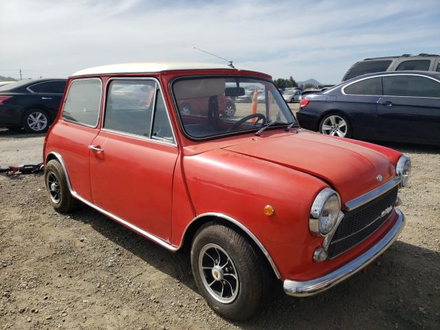 1970 Min Cooper Red  - front right view