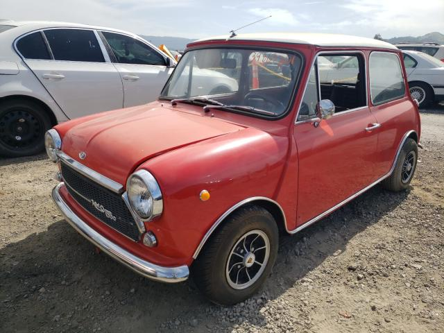 1970 Min Cooper Red  - front left view