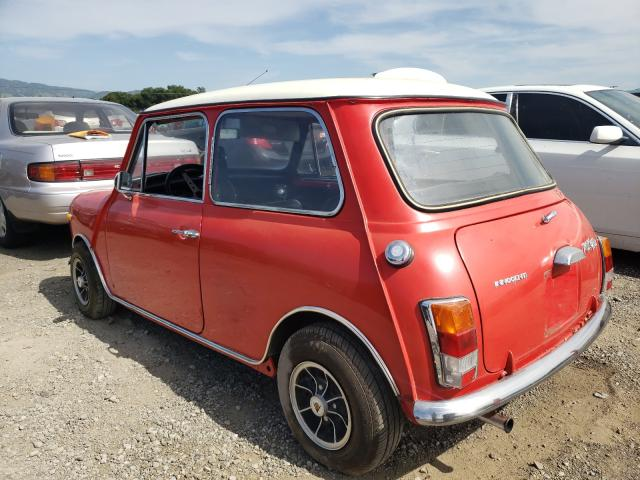 1970 Min Cooper Red  - rear left view