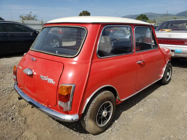 1970 Min Cooper Red  - rear right view