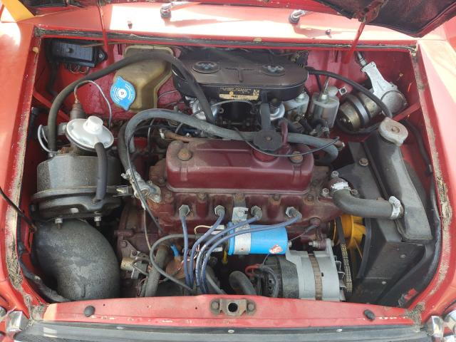 1970 Min Cooper Red  - engine