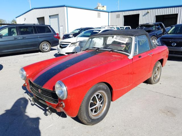 1977 Mg Midget Red  - front left view