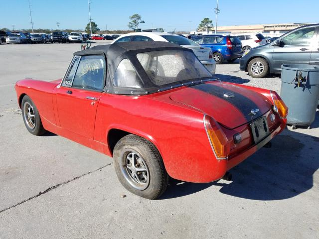 1977 Mg Midget Red  - rear left view