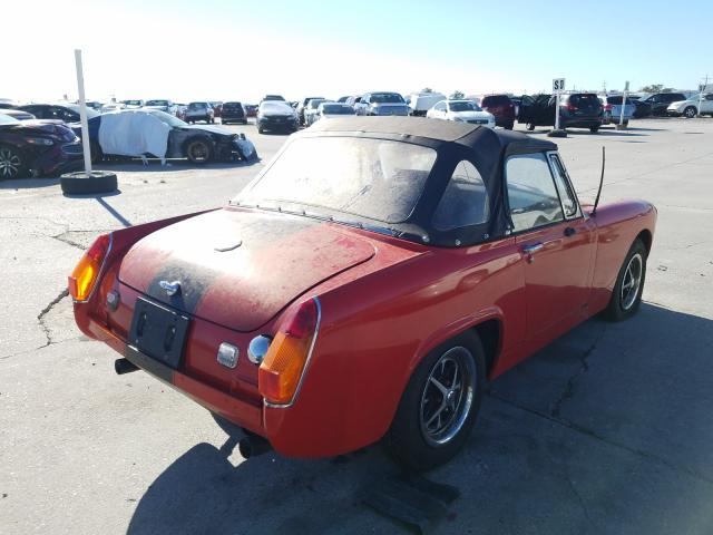 1977 Mg Midget Red  - rear right view