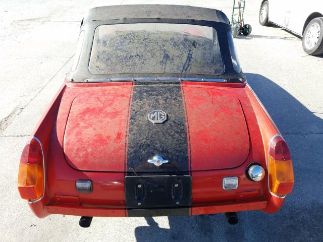 1977 Mg Midget Red  - back view