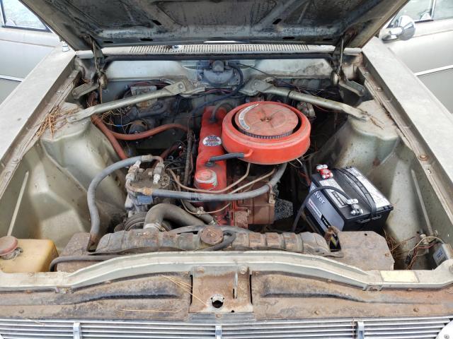 1965 Amer Rambler Tan  - engine