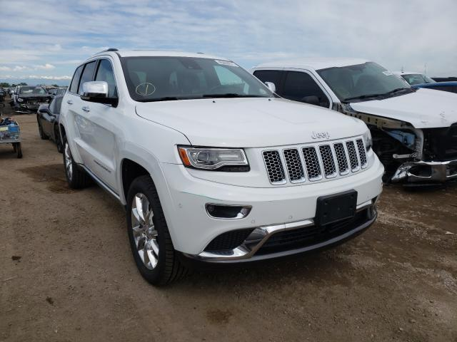 2014 Jeep Grand Cher White  - front right view
