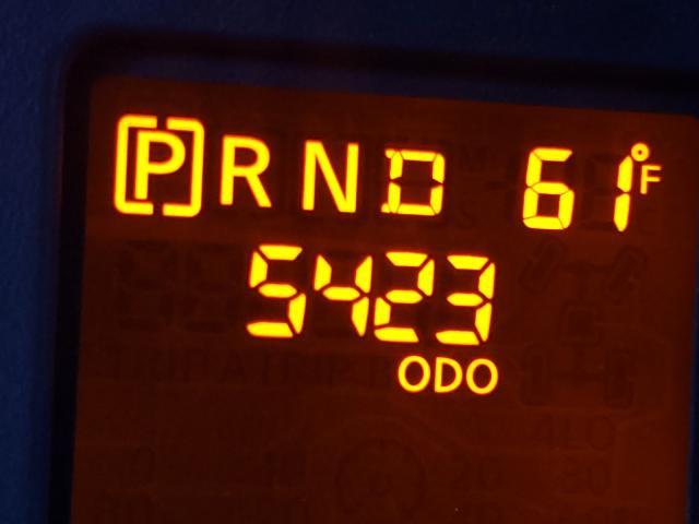 2012 Niss Nv 2500 Black  - odometer