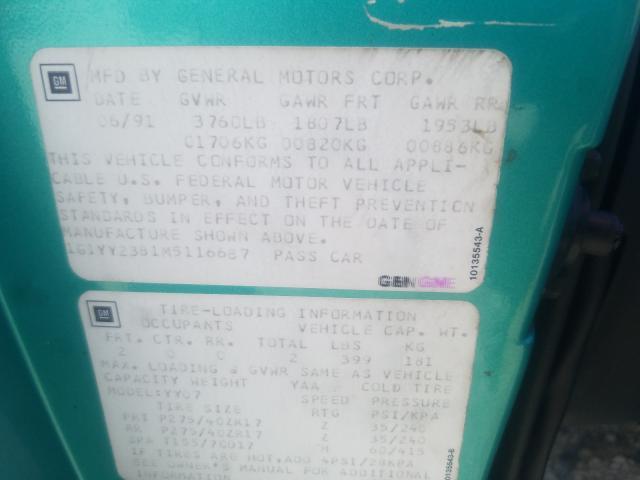 1991 Chevrolet Corvette Turq