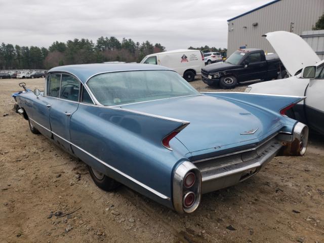 1960 Cadillac Deville Blue  - rear left view