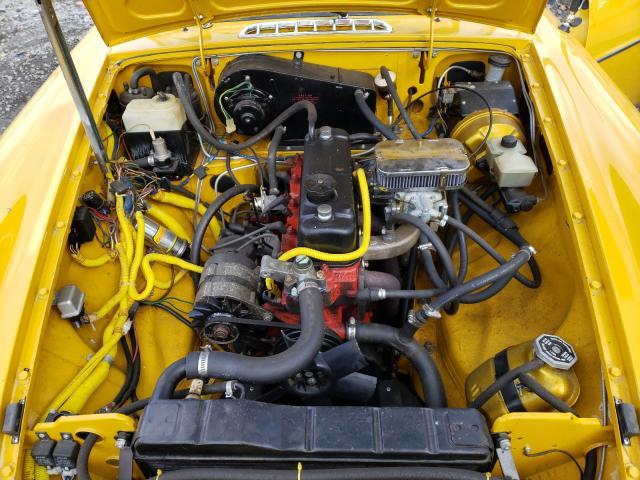 1978 Mg B Yellow  - engine