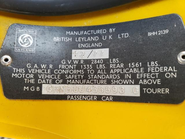 1978 Mg B Yellow