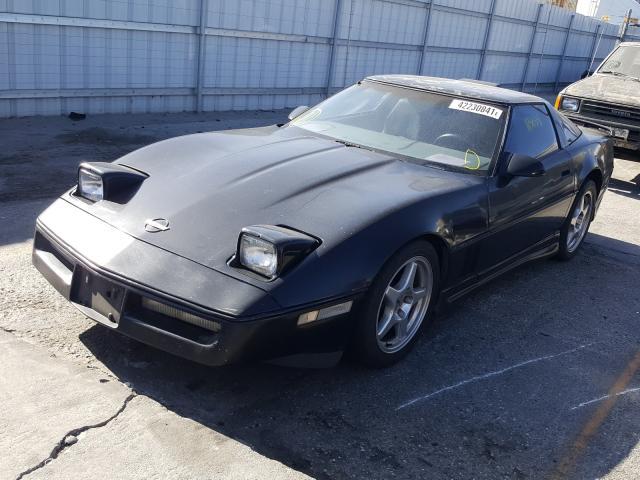 1987 Chevrolet Corvette Black  - front left view