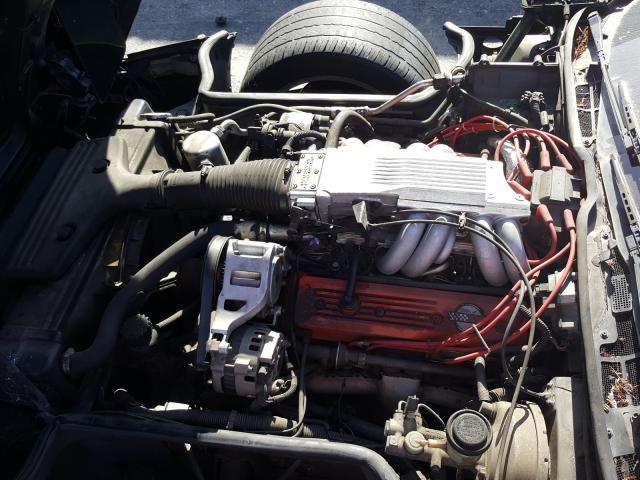 1987 Chevrolet Corvette Black  - engine