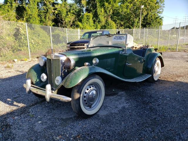 1953 Mg Roadster Green  - front left view