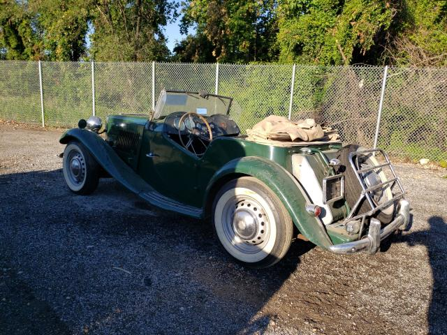 1953 Mg Roadster Green  - rear left view