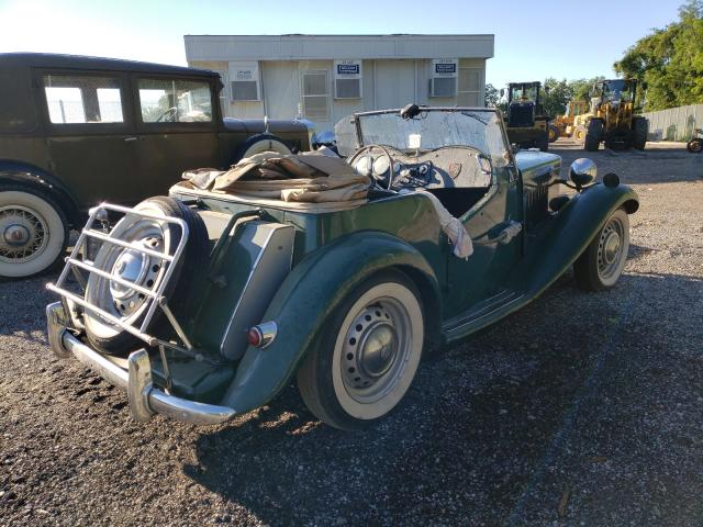 1953 Mg Roadster Green  - rear right view