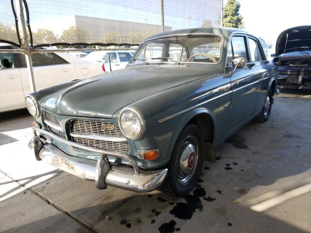 1965 Volvo 122s Gray  - front left view