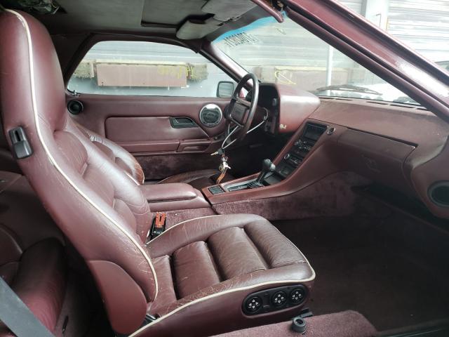 1984 Porsche 928 S Burgundy  - interior - front