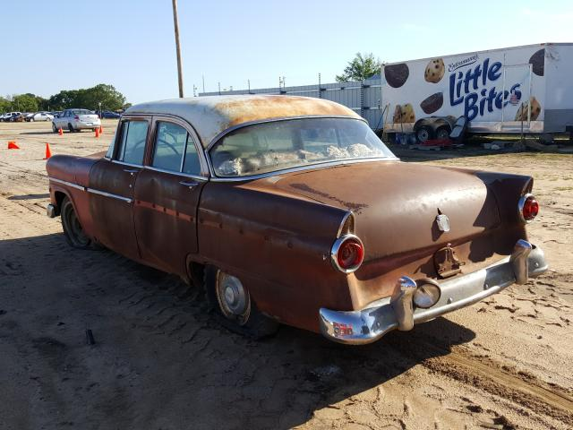 1955 Ford Crown Vict Brown  - rear left view