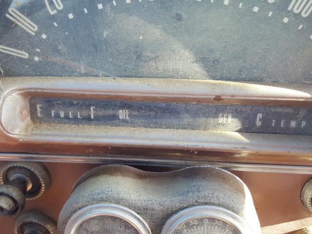 1955 Ford Crown Vict Brown  - odometer
