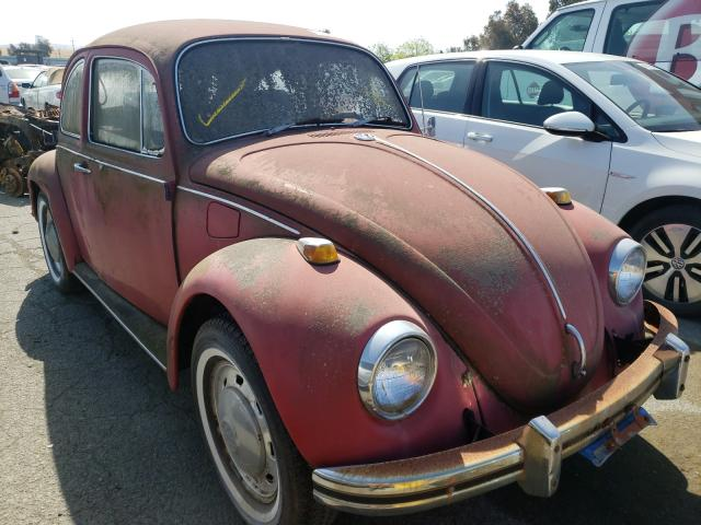 1969 Volkswagen Beetle Red  - front right view