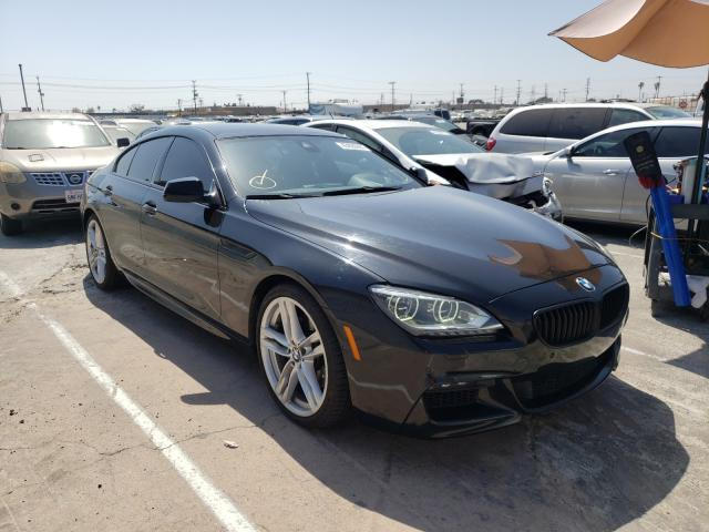 2014 Bmw 650 I Gran Black  - front right view