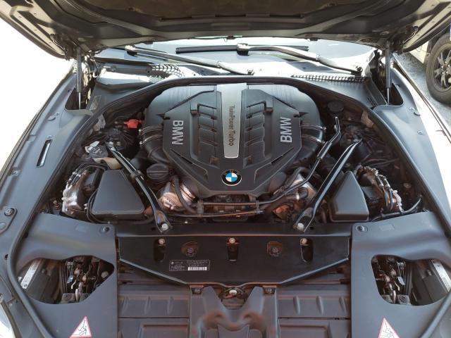 2014 Bmw 650 I Gran Black  - engine