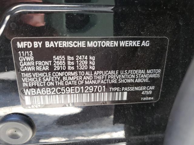2014 Bmw 650 I Gran Black